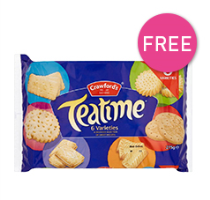 Free Biscuits £50 Min Spend QUOTE OVER50