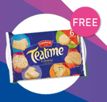 Free Biscuits When You Spend £50 QUOTE OVER50